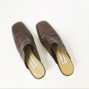 Vintage leather mules